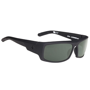 Spy Admiral Soft Matte Black / Happy Grey Green Polarized
