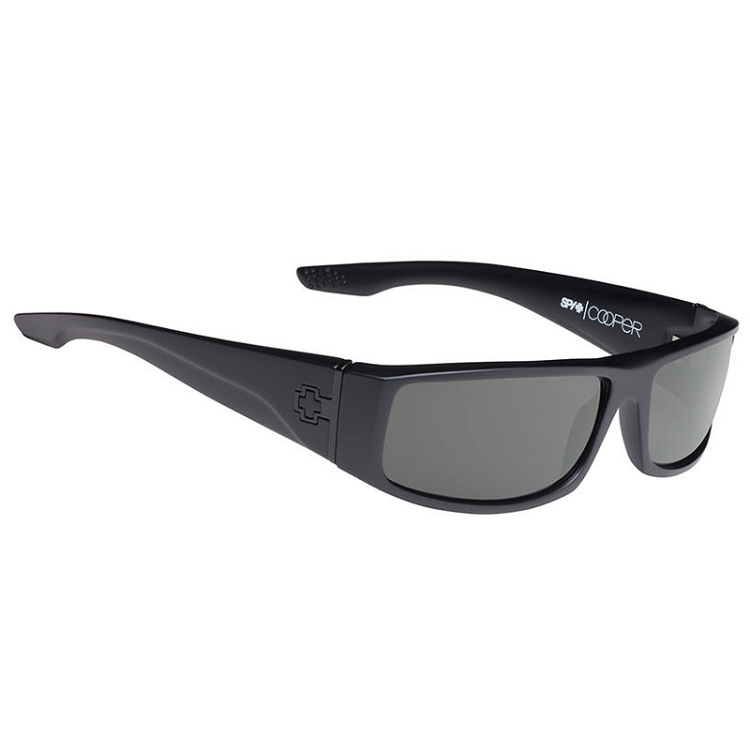 Spy Cooper Soft Matte Black / Happy Grey Green Polarized