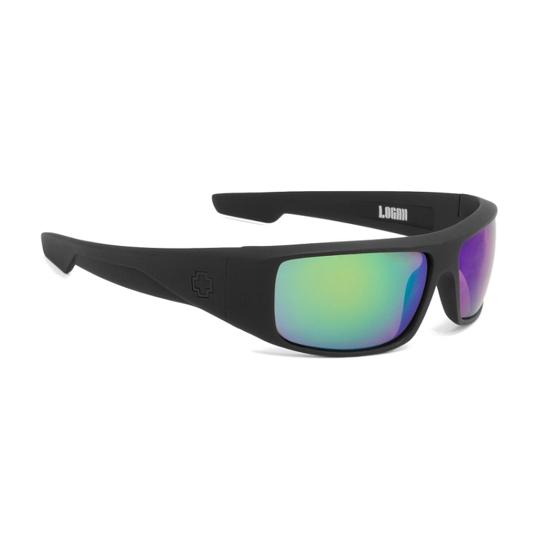 Spy Logan Matte Black / Happy Bronze Polarized with Green Spectra