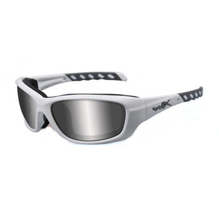 Wiley X Gravity Matte White / Grey Silver Flash