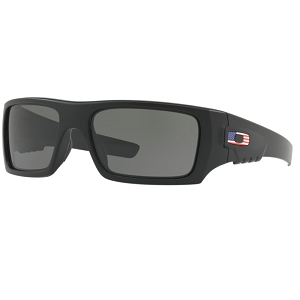 Oakley Standard Issue Det Cord Matte Black with USA Flag / Grey