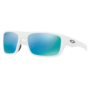 Oakley Drop Point Polished White / Prizm Deep Water Polarized