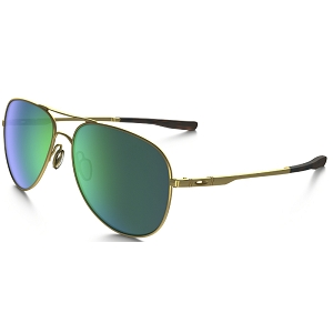 Oakley Elmont Medium Matte Satin Gold / Jade Iridium