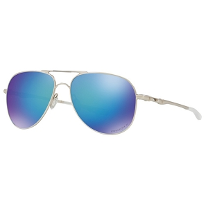 Oakley Elmont Medium Satin Chrome / Prizm Sapphire Polarized