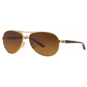Oakley Feedback Polished Gold / Brown Gradient Polarized