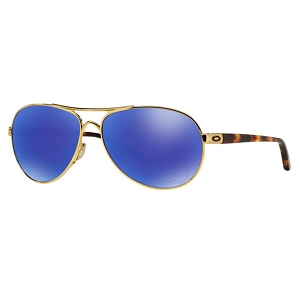 Oakley Feedback Polished Gold / Violet Iridium Polarized