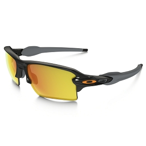 Oakley Flak 2.0 XL Team Colors Polished Black / Fire Iridium