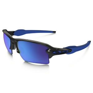 Oakley Flak 2.0 XL Team Colors Polished Black / Sapphire Iridium