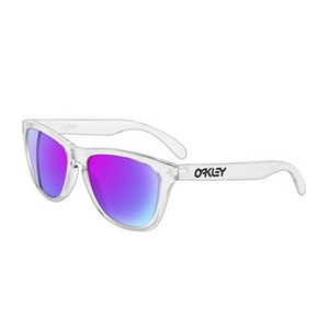 Oakley Frogskins Polished Clear / Violet Iridium