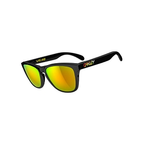 Oakley Frogskins Valentino Rossi Signature Series Polished Black / Fire Iridium