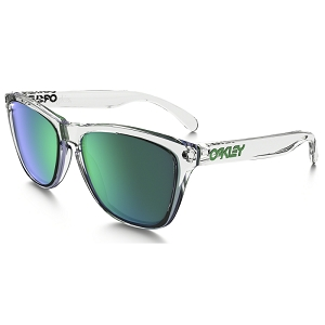 Oakley Frogskins Crystal Collection Polished Clear / Jade Iridium