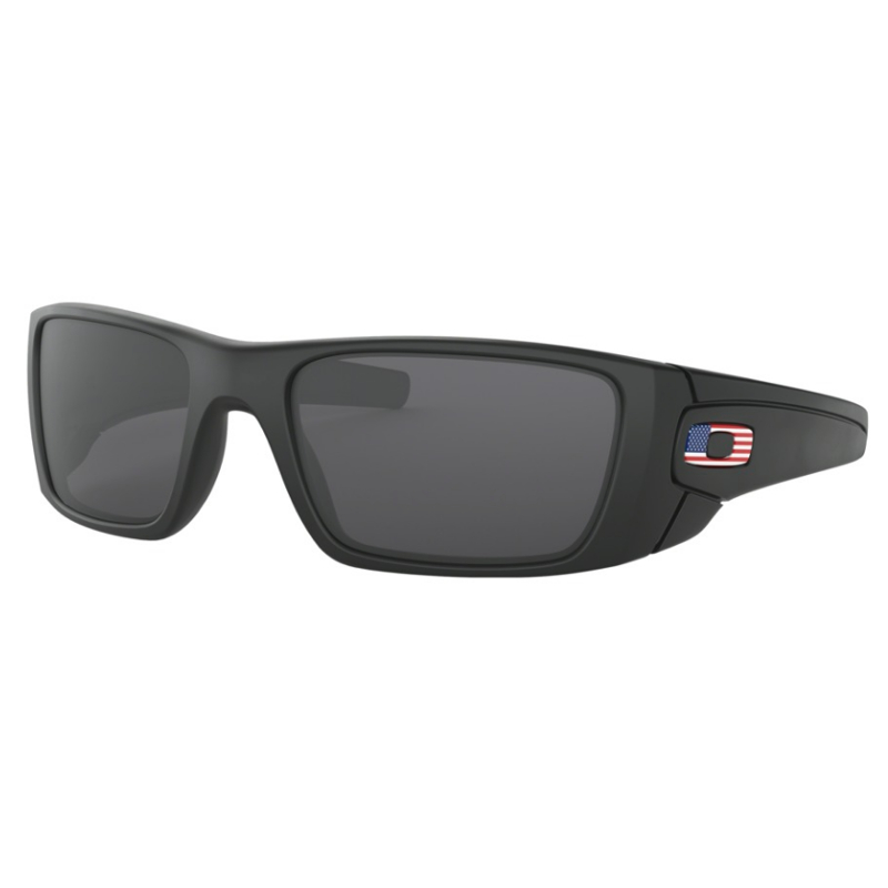 0d821dcfbffb6 Oakley Standard Issue Fuel Cell Matte Black with USA Flag   Grey