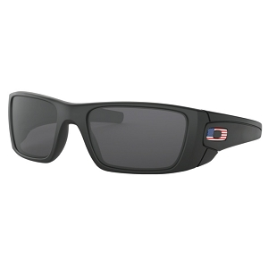Oakley Standard Issue Fuel Cell Matte Black with USA Flag / Grey