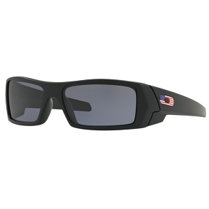 Oakley Gascan Standard Issue Matte Black with US Flag Icon / Grey