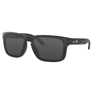 Oakley Standard Issue Holbrook Matte Black with USA Flag / Grey