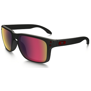 Oakley Holbrook Matte Black / Positive Red Iridium