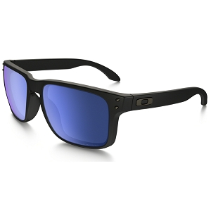 Oakley Holbrook Matte Black / Ice Iridium Polarized