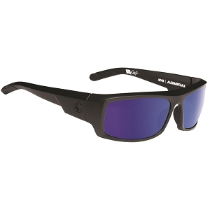 Spy Admiral Matte Black / Happy Bronze Polarized with Blue Spectra