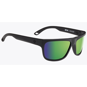 Spy Angler Matte Black / Happy Bronze Polarized with Green Spectra