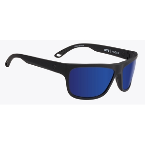 Spy Angler Soft Matte Black / Happy Bronze Polarized with Dark Blue Spectra