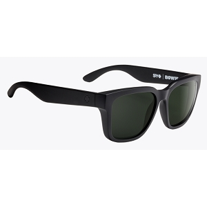 Spy Bowie Matte Black / Happy Grey Green Polarized