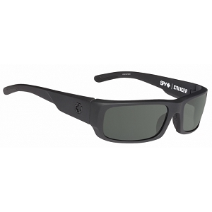 Spy Caliber Soft Matte Black / Happy Grey Green Polarized