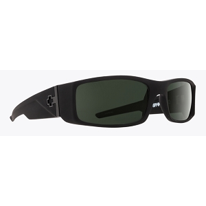 Spy Hielo Soft Matte Black / Happy Grey Green Polarized