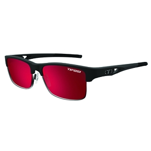 Tifosi Highwire Matte Black / Smoke Red