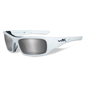 Wiley X Arrow Matte White / Polarized Grey Silver Flash