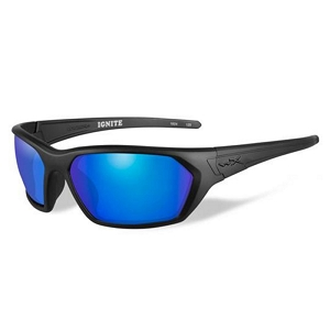 Wiley X Ignite Matte Black / Polarized Blue Mirror