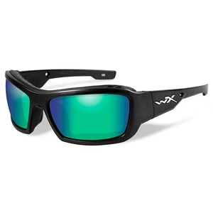 Wiley X Knife Matte Black / Polarized Emerald Mirror
