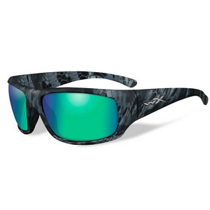 Wiley X Omega Kryptek Neptune / Polarized Emerald Green Mirror