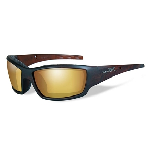 Wiley X Tide Matte Hickory Brown / Polarized Venice Gold Mirror