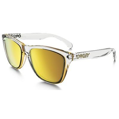 Oakley Frogskins Crystal Collection Polished Clear / 24K Iridium