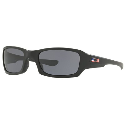 Oakley Standard Issue Fives Squared Matte Black with USA Flag / Grey