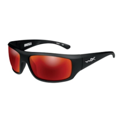 Wiley X Omega Matte Black / Polarized Crimson Mirror